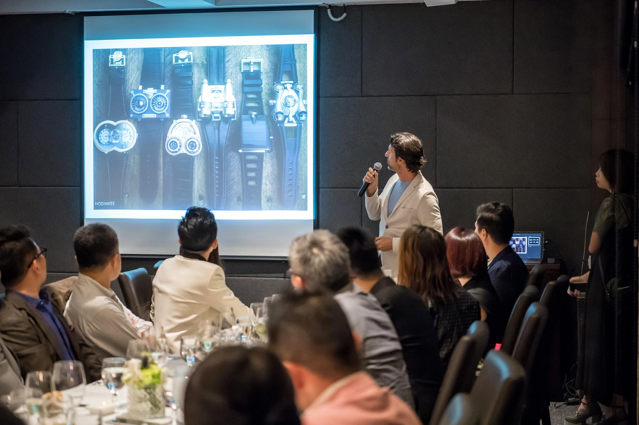 Max sharing with us his past creations, and his vision for MB&F