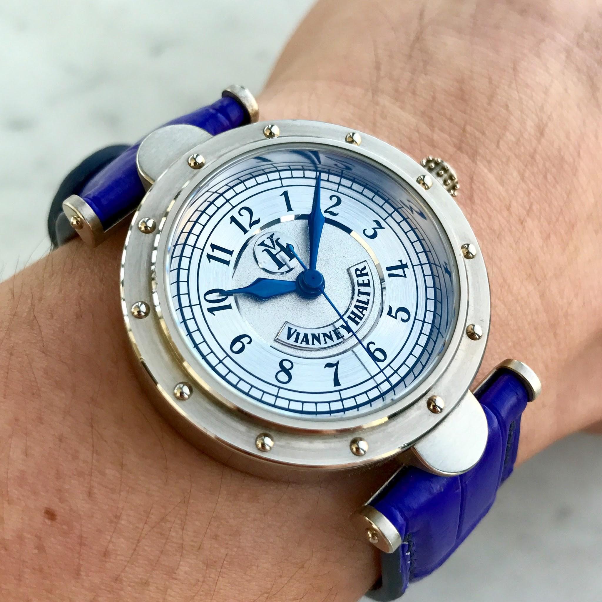 My Vianney Halter Classic timepiece.
