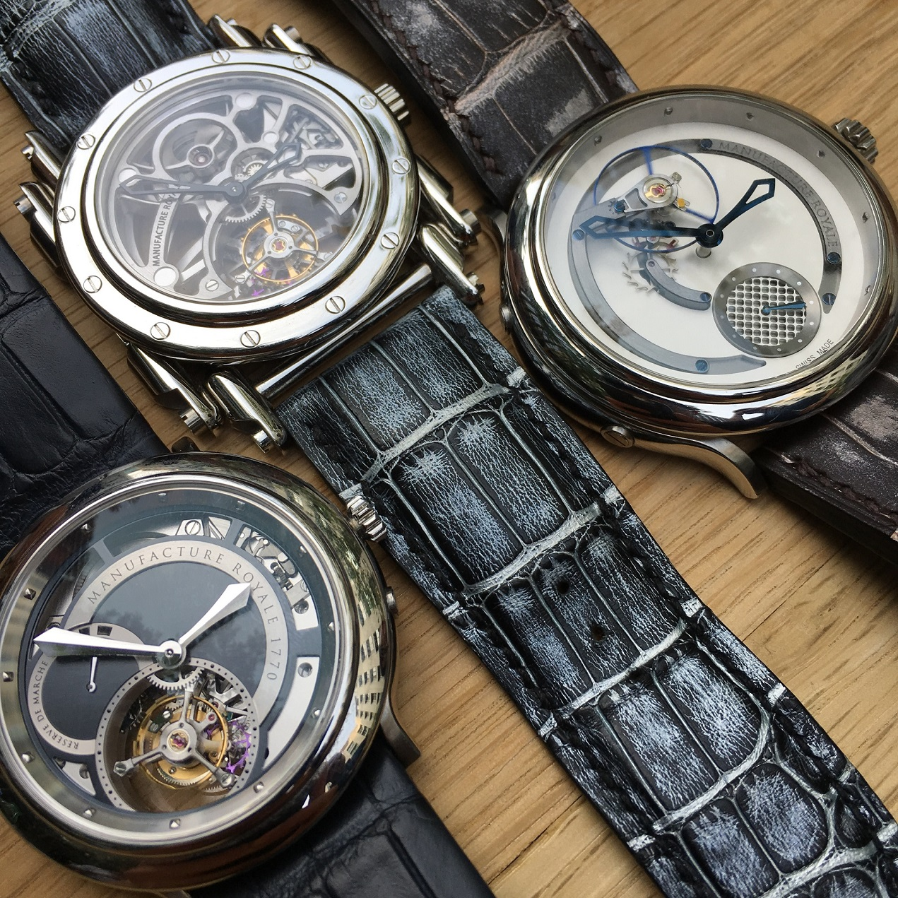 It all started with three: Manufacture Royale timepieces.