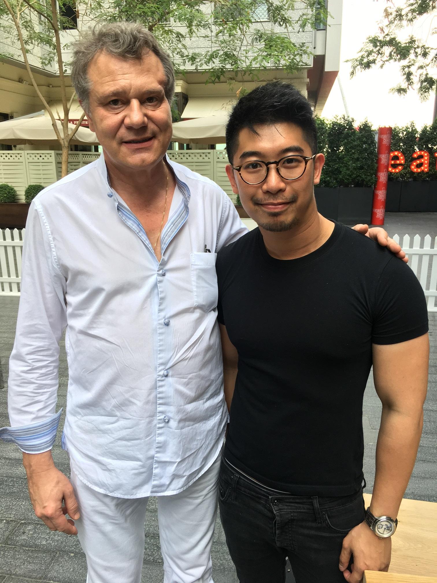 Mr. François-Paul Journe and I.