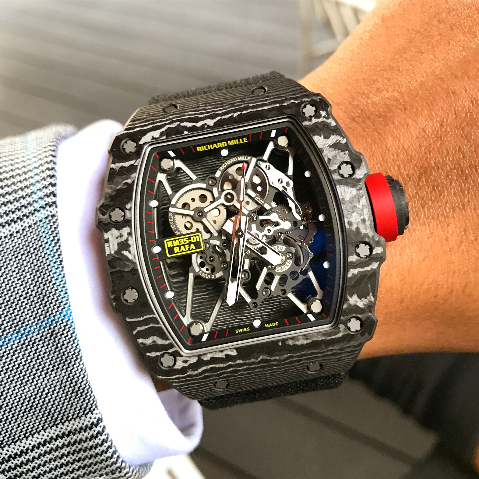 Richard Mille.RM35-01 (Watch courtesy of @DubaiWatchClub and @D_244). Photo courtesy of Wee Yong (@Horolojizz).