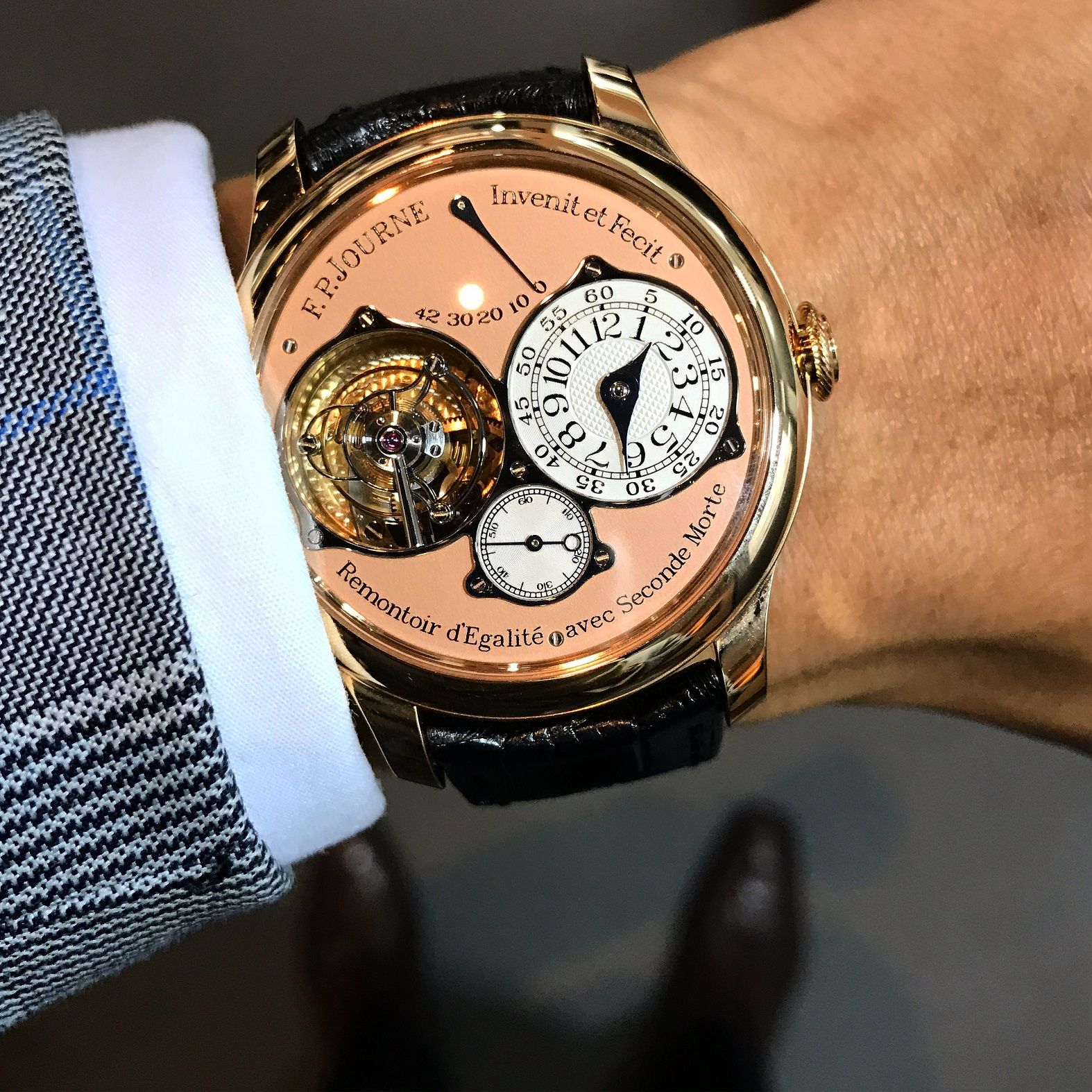 F.P. Journe - Tourbillon Souveraine. Photo courtesy of Wee Yong (@Horolojizz).
