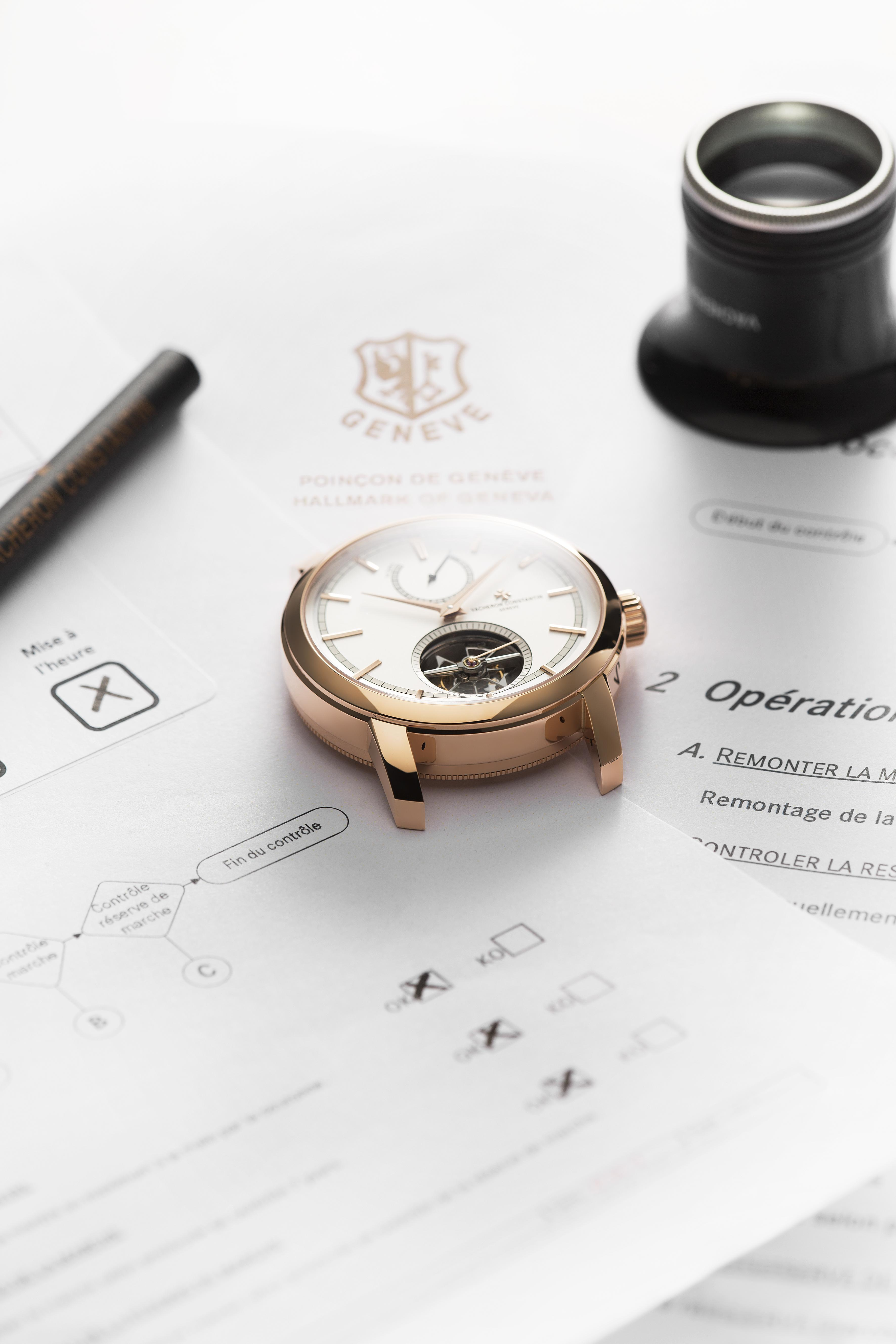 A timepiece and its test results.